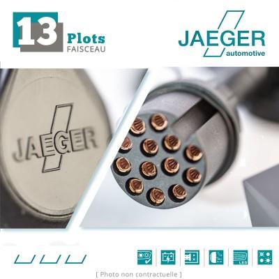 Faisceau d'attelage 13 broches spécifique Dacia DUSTER I (Phase 1) (05/2010 - 10/2013) JAEGER Automotive 26620504