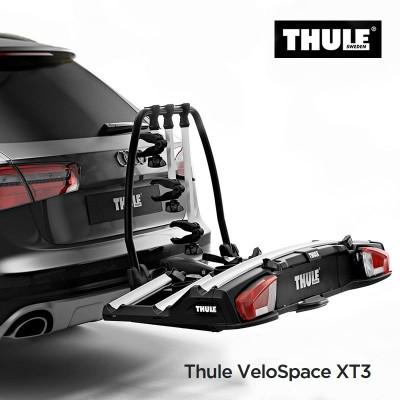 THULE VeloSpace XT - Porte-vélos plateforme pour 3 (+1) vélos, inclinable sur boule d'attelage THULE 939000