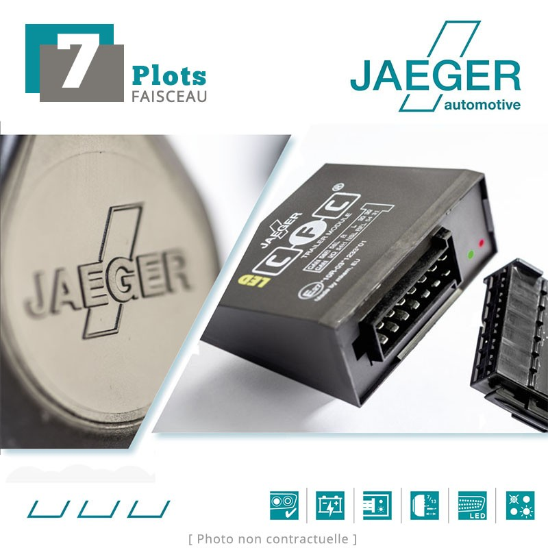 Faisceau spécifique 7 broches pour Nissan QASHQAI J11E (6/2019 - ) JAEGER 12140539