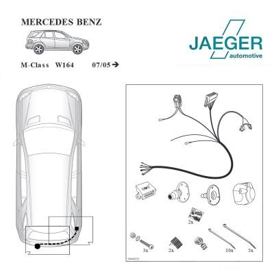 Faisceau 7 broches spécifique Mercedes Classe M (W164) (7/2005 - ) JAEGER 12040512