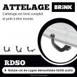 Attelage amovible BRINK pour Honda CR-V 5 (inclus 4x4 et Hybrid) (10/2018 - ) BRINK  684200