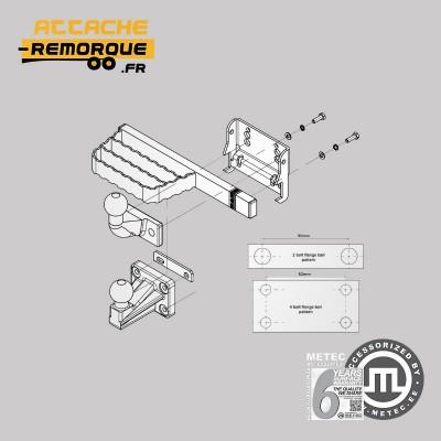 Marchepied compact pour Utilitaires, 4x4, Fourgons et Pick-Up METEC M888422