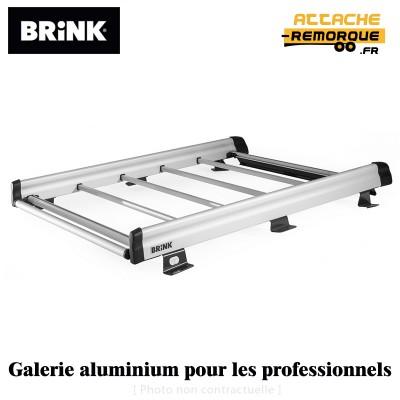 Galerie de toit en alu pour Peugeot PARTNER 2 (L1 avec Portes Battantes) (6/2008 - 10/2018) BRINK  9078341