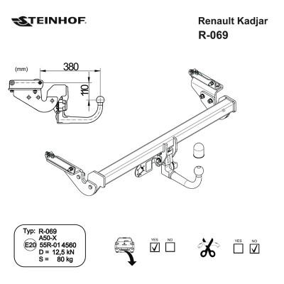 Attelage RDSO pour Renault KADJAR (2015 - 2021) STEINHOF R-069