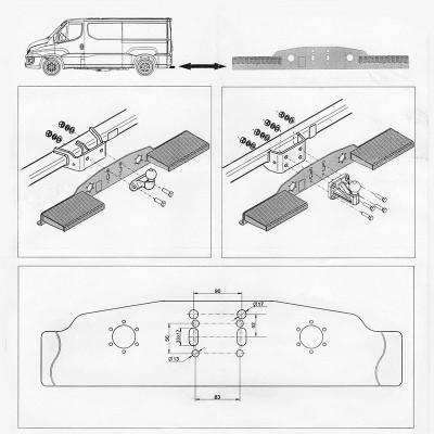Marche Pied pour véhicules Utilitaires, Fourgons, Camionnettes STEINHOF ST-01