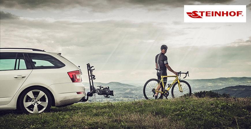 Porte-vélos plateforme sur attelage